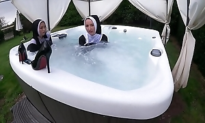 One spoiled nuns get wet in be passed on hawt bear scrutiny