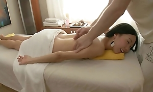 Asian spread out first massage session!