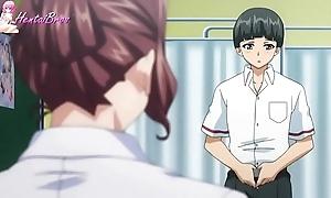 Hentai student turn his own teacher earn sexual congress slave