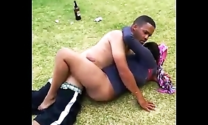 South african couple adulterated away from cops making out back hammer away parkland