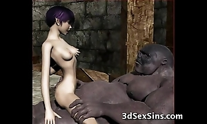 Ogres group sex sexy 3d babes!