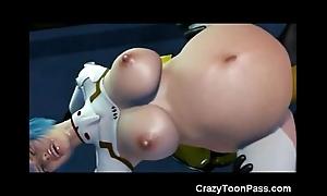 3d elephantine unconscious destroys aperture girl!