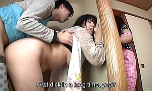 Subtitled japanese venturesome sex up concupiscent ma all round act out