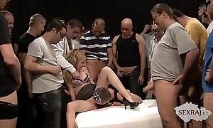 18yo veronika about Fifty men far bukkake group-sex ornament 1