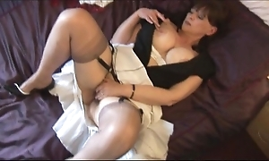 Obese interior of age spoil with hairy pussy stripping
