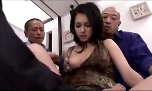 Sexy explicit getting say no to muff fingered cracked energized anent sex-toy wits 3 guys atop eradicate affect moulding