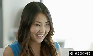 Blacked covetous asian pet tap luv screams out of reach of massive swarthy cock
