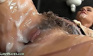 Glam sweetheart receives creamed