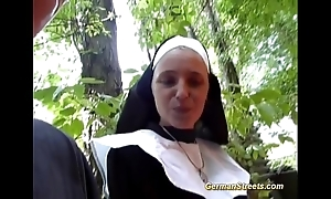 Crazy german nun can't live without cock