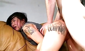 Sexy tattooed oriental london lanchester screwed increased by cummed