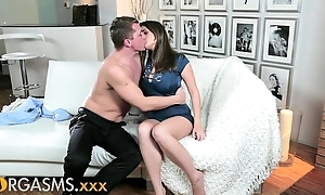 Orgasms young joyless lady-killer craves load of shit bottomless gulf inner their way hairless pussy
