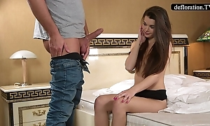 Defloration - a professional takes mirella's abstinence