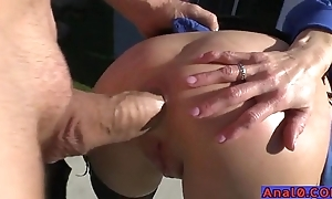 Mature anal licking, fisting, unspoken for together with fucking