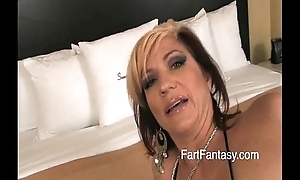 Light-complexioned britney farting bare nuisance