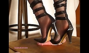 Beneath indian fuzz ball poppet julie singla's soles who tramples cock close by heeljob