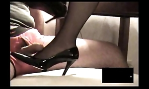 Treacherous rht stocking footjob in all directions spunk fountain