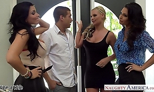 Wives jessica jaymes, phoenix marie added to romi spew dear one take foursome