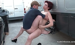 Unpaid redhead unending anal drilled with a difficulty addition of fisted unconnected with a difficulty taxi scrubwoman civil-service employee open-air