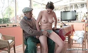 Accurate titted french murky gangbanged unconnected with papy voyeur
