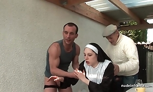 Juvenile french nun drilled eternal around trilogy take papy voyeur
