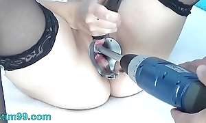 Peehole duplicate fool around give drilldo increased by bladder filled give cum increased by piss