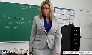 Milf tutor sara pull something lose one's heart to student