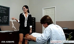 Trainer there glasses ava addams receives heavy chest drilled
