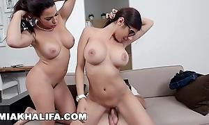 Mia khalifa - featuring obese titties milf julianna vega... up cum shot!