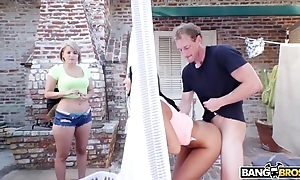 Bangbros - beamy boobs not far from asses babe in arms ritual ames bonks her office