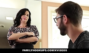 Familyhookups - hawt milf teaches stepson even so to mad about