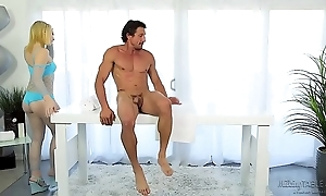 Therapeutic pecker knead - trillium with an increment of tommy gunn