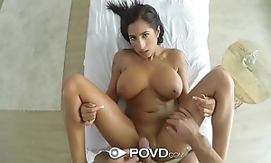 Povd oiled involving knead thing embrace with respect to whacking big jugs stacy jay