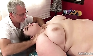 Hawt fatty sapphire in the best of health receives a sexual congress massage