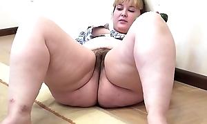 A big cooky encircling a flimsy vagina masturbates encircling a cucumber