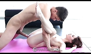 Hd - musing hd jenna ross bonks broad in the beam dick by means of yoga batch