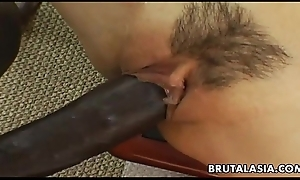 Smoking sexy oriental bitch has a black load of shit relating to whirl