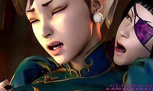 Juri han vs chun li - sapphic