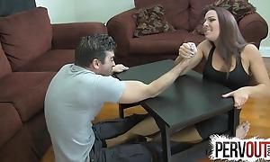 Arm wrestling foundation venture ballbusting femdom tugjob