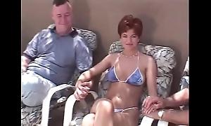 Unannounced hair redhead swinger Threesome