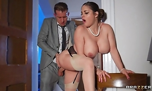 Deepthroating coupled relating to arse stab relating to sexy curvy wife